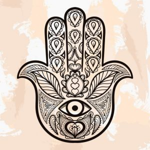 Mão de fatima gravura
